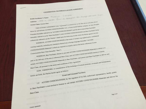 契約書のコピーとスタートマニュアル